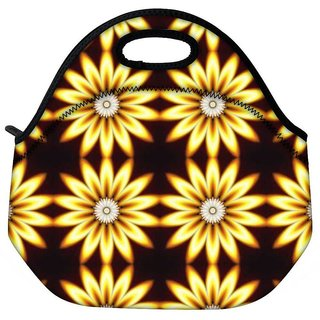Snoogg Yellow Sunflower Travel Outdoor CTote Lunch Bag