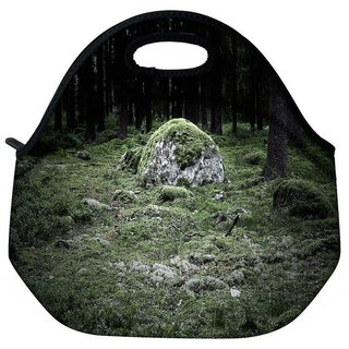 Snoogg Green Grass In Stone Travel Outdoor Tote Lunch Bag