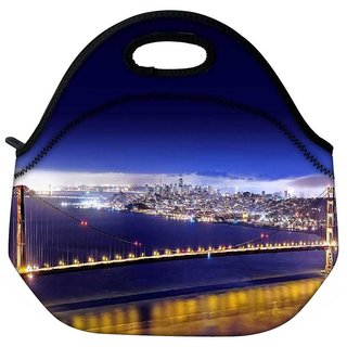 Snoogg Dark Blue Sky Travel Outdoor Tote Lunch Bag