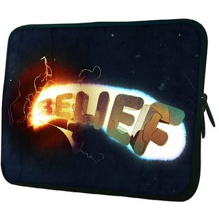 Snoogg Belief 10.2 Inch Soft Laptop Sleeve