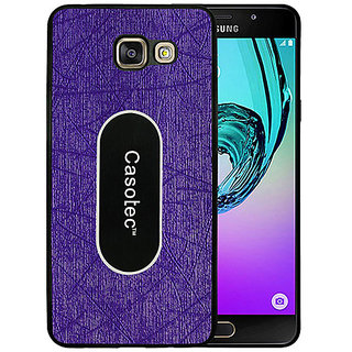 Casotec Metal Back TPU Back Case Cover for Samsung Galaxy A7 (2016) - Purple