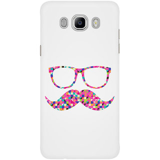 Dreambolic Funny Girly Pink Abstract Mustache Hipster Back Cover