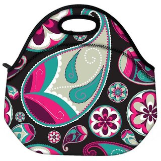 Snoogg Dark Abstract Pattern Travel Outdoor CTote Lunch Bag