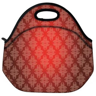 Snoogg Abstract Red Pattern Travel Outdoor CTote Lunch Bag