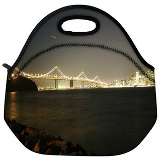 Snoogg Colrful Lights At Sealings Travel Outdoor Tote Lunch Bag