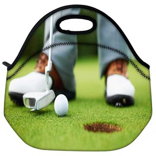 Snoogg Ball And Hole Travel Outdoor Tote Lunch Bag