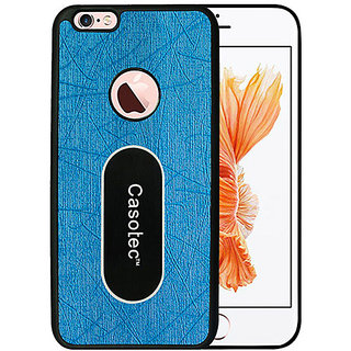 Casotec Metal Back TPU Back Case Cover for Apple iPhone 6 / 6S - Sky Blue