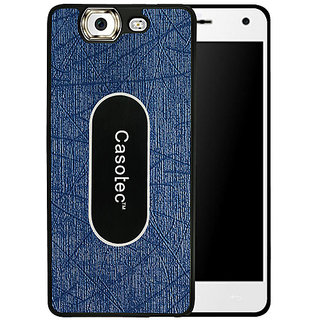 Casotec Metal Back TPU Back Case Cover for Micromax Canvas Knight A350 - Dark Blue