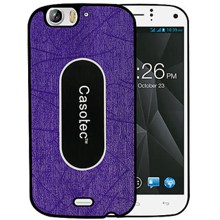 Casotec Metal Back TPU Back Case Cover for Micromax Canvas Turbo A250 - Purple