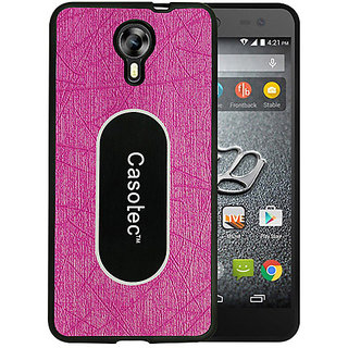 Casotec Metal Back TPU Back Case Cover for Micromax Canvas Xpress 2 E313 - Pink