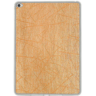 Casotec Retro Style Soft TPU Leather Back Case Cover for Apple iPad Air 2 - Gold