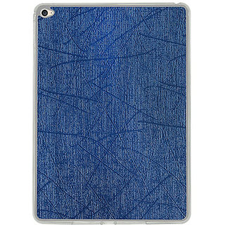 Casotec Retro Style Soft TPU Leather Back Case Cover for Apple iPad Air 2 - Dark Blue