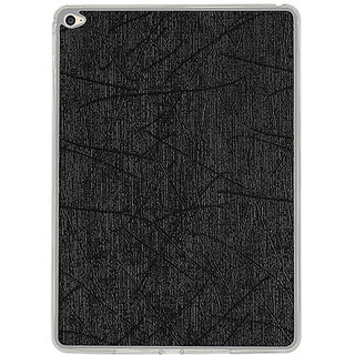 Casotec Retro Style Soft TPU Leather Back Case Cover for Apple iPad Air 2 - Black