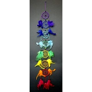 Seven chakra balanced inner peace dream catcher/wall hanging