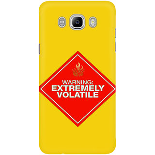 Dreambolic Warning  Extremely Volatile Graphic Mobile Back Cover