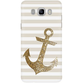 Dreambolic Glitter Anchor In Gold Mobile Back Cover