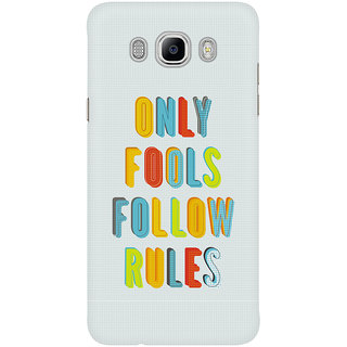 Dreambolic Only Fools Follow Rules Graphic Mobile Back Cover