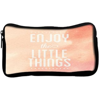 Snoogg Enjoy the little thingsPoly Canvas  Multi Utility Travel Pouch