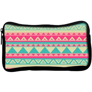 Snoogg Aztec pinkPoly Canvas  Multi Utility Travel Pouch
