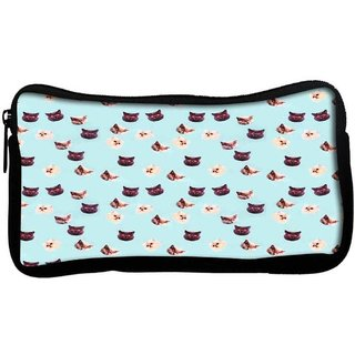 Snoogg Hypno catsPoly Canvas  Multi Utility Travel Pouch
