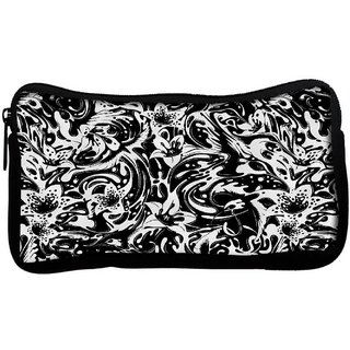 Snoogg Splash flower leavesPoly Canvas  Multi Utility Travel Pouch