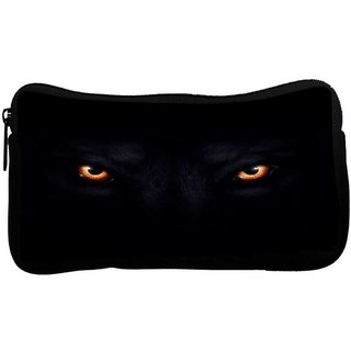 Snoogg Lion eyes dark blackPoly Canvas  Multi Utility Travel Pouch