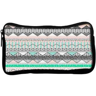 Snoogg Polka wave aztecPoly Canvas  Multi Utility Travel Pouch