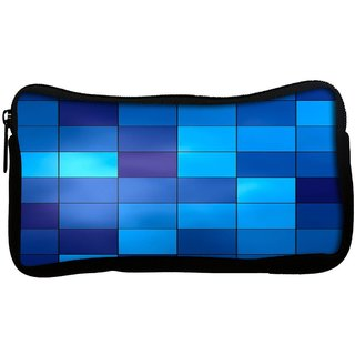 Snoogg  Digital SquaresPoly Canvas Multi Utility Travel Pouch