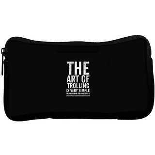 Snoogg The Art Of Trolling Poly Canvas  Multi Utility Travel Pouch
