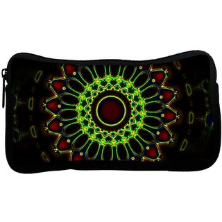 Snoogg Neon Colorful Chakra Design Poly Canvas  Multi Utility Travel Pouch