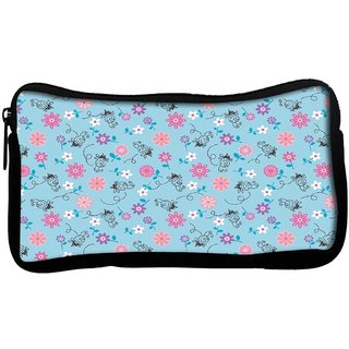 Snoogg Bee flower patternPoly Canvas  Multi Utility Travel Pouch