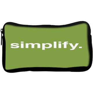 Snoogg  SimplifyPoly Canvas Multi Utility Travel Pouch