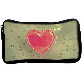 Snoogg Small Heart Poly Canvas  Multi Utility Travel Pouch
