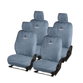 Pegasus Premium Grey Towel Car Seat Cover For Skoda Rapid