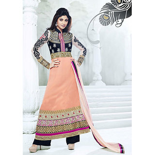 Stylish Bazaar Designer Shilpa Shetty Ready To Stitch Anarkali