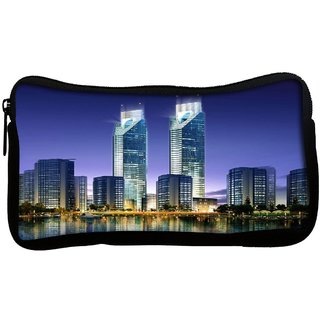 Snoogg skyscrapers in the bay 2696 Poly Canvas  Multi Utility Travel Pouch