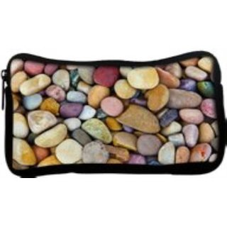 Snoogg Colorful Pebble Poly Canvas  Multi Utility Travel Pouch