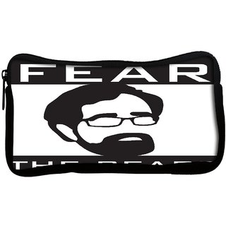 Snoogg Fear The beard 2745 Poly Canvas  Multi Utility Travel Pouch