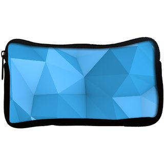 Snoogg blue polygon 2757 Poly Canvas  Multi Utility Travel Pouch