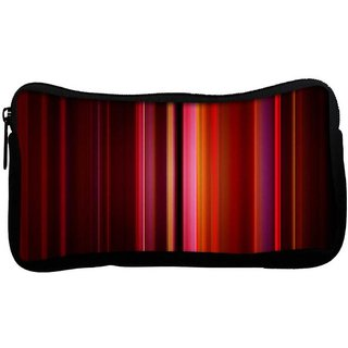 Snoogg Abstract Red Rays Poly Canvas  Multi Utility Travel Pouch