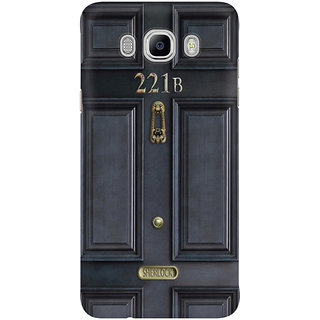 Dreambolic Black Door With 221B Number Mobile Back Cover