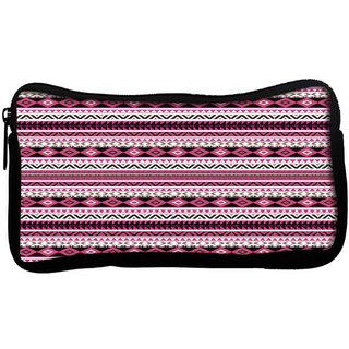 Snoogg Loud aztec pink and blackPoly Canvas  Multi Utility Travel Pouch