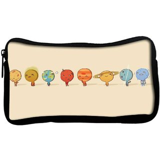 Snoogg Nine Planets Poly Canvas  Multi Utility Travel Pouch