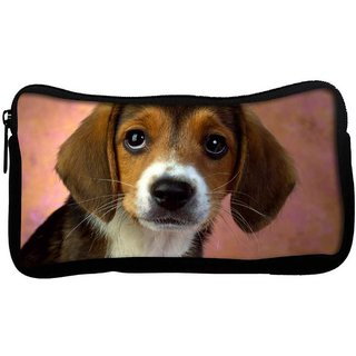 Snoogg Cute Puppy Poly Canvas  Multi Utility Travel Pouch