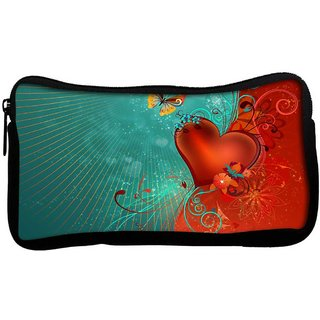 Snoogg Heart And Butterfly Poly Canvas  Multi Utility Travel Pouch