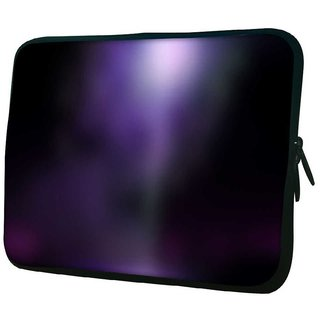 Snoogg Black And Purple Design 10.2 Inch Soft Laptop Sleeve