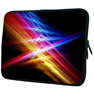 Snoogg Attracting Multiple Lights 10.2 Inch Soft Laptop Sleeve