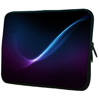 Snoogg Blue And Purple Ray In Black Background 10.2 Inch Soft Laptop Sleeve