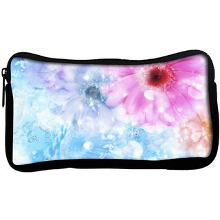 Snoogg Colorful Sunflower Poly Canvas  Multi Utility Travel Pouch