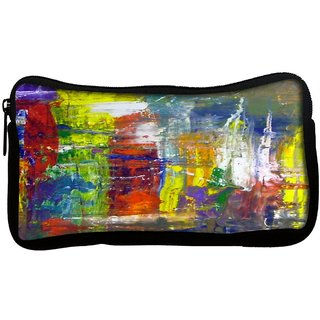 Snoogg  Wall Art Abstract Painting Poly Canvas Multi Utility Travel Pouch